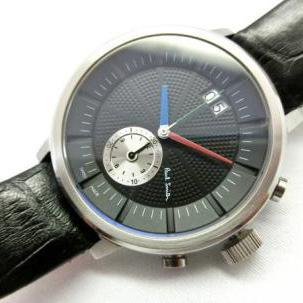 ポールスミスブラック革ベルト時計
