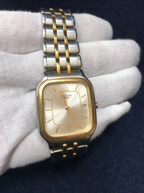 SEIKOクレドールクォーツ腕時計