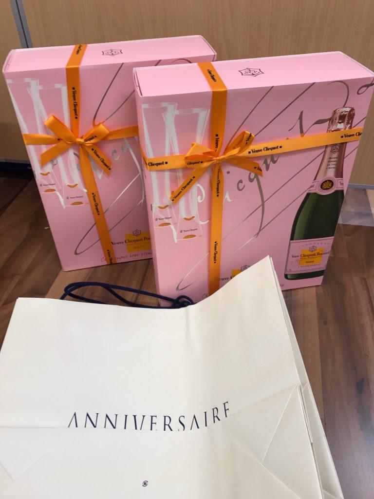 ヴーヴクリコ Veuve Clicquot ロゼ シャンパン 750ml 12.5% グラス・箱付き 2本セット