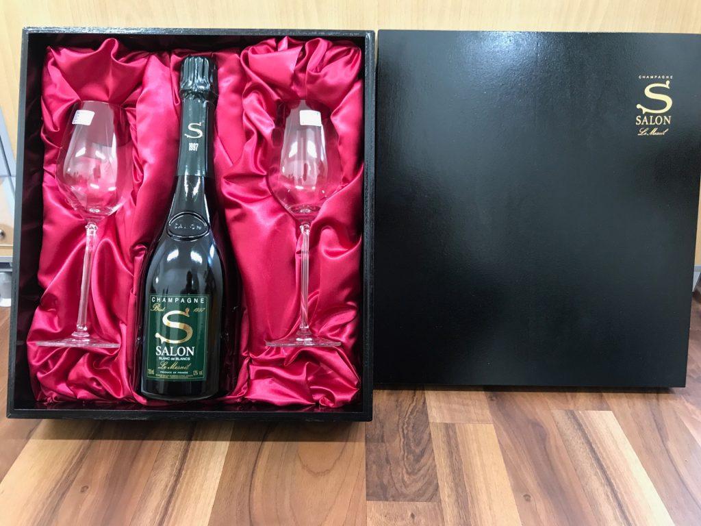 SALONサロン 750ml シャンパン(箱・ペアグラス付き)