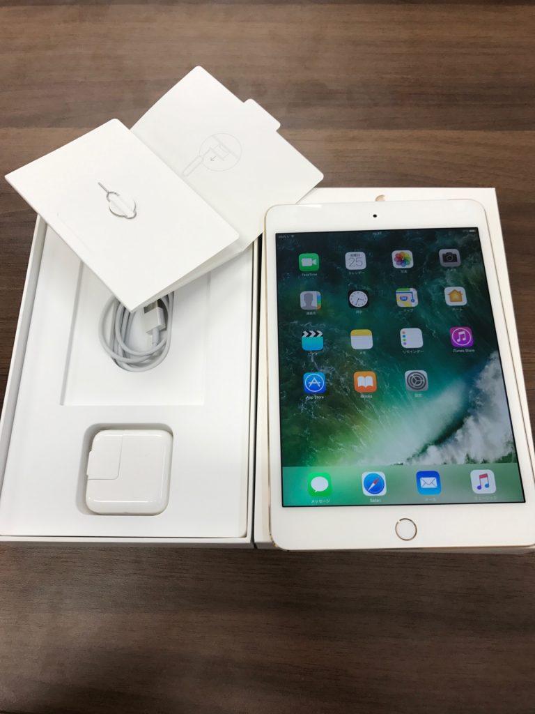 iPad mini4 128GBゴールドWi-Fi+cellularドコモ