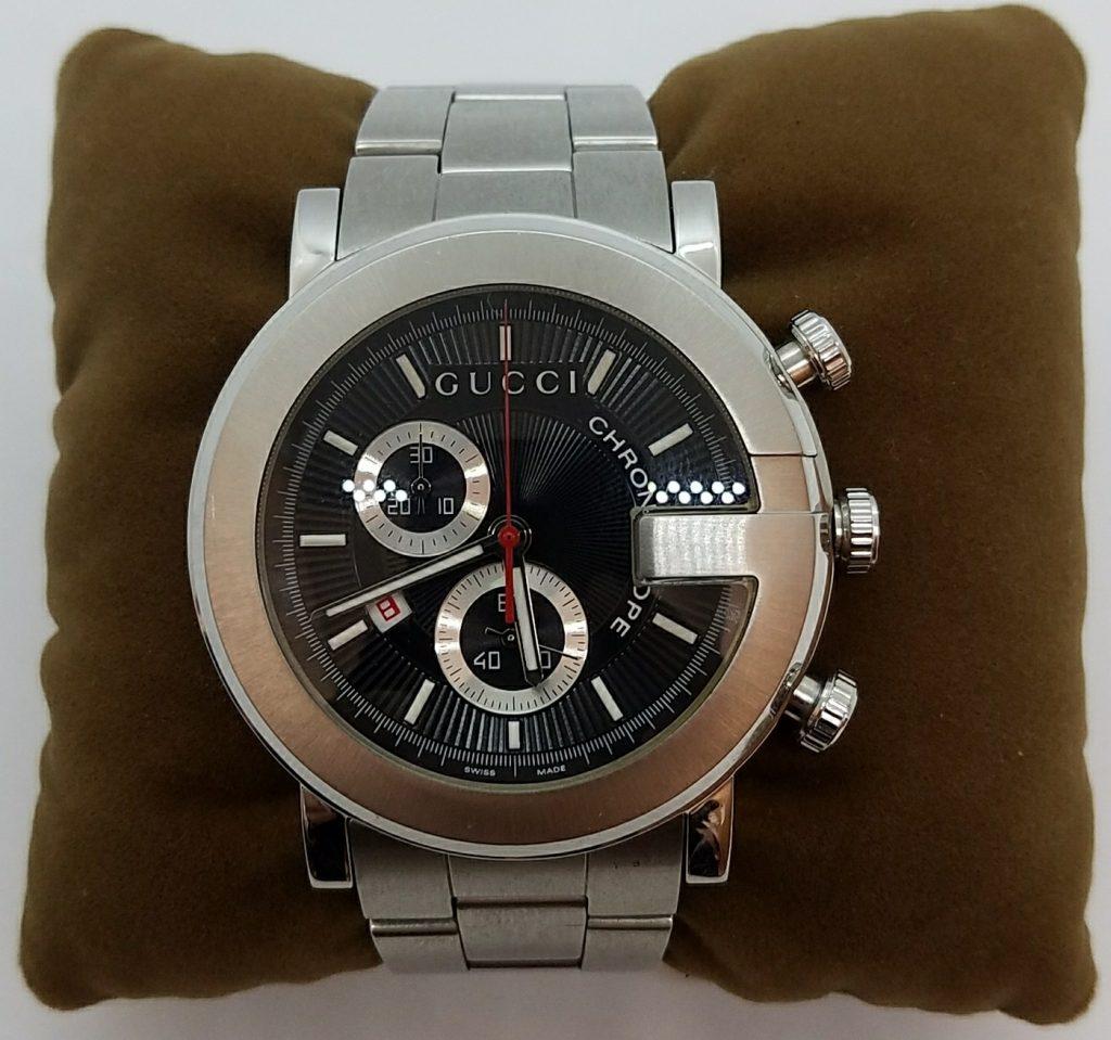 GUCCI 腕時計 101M ブラック SS クロノグラフ