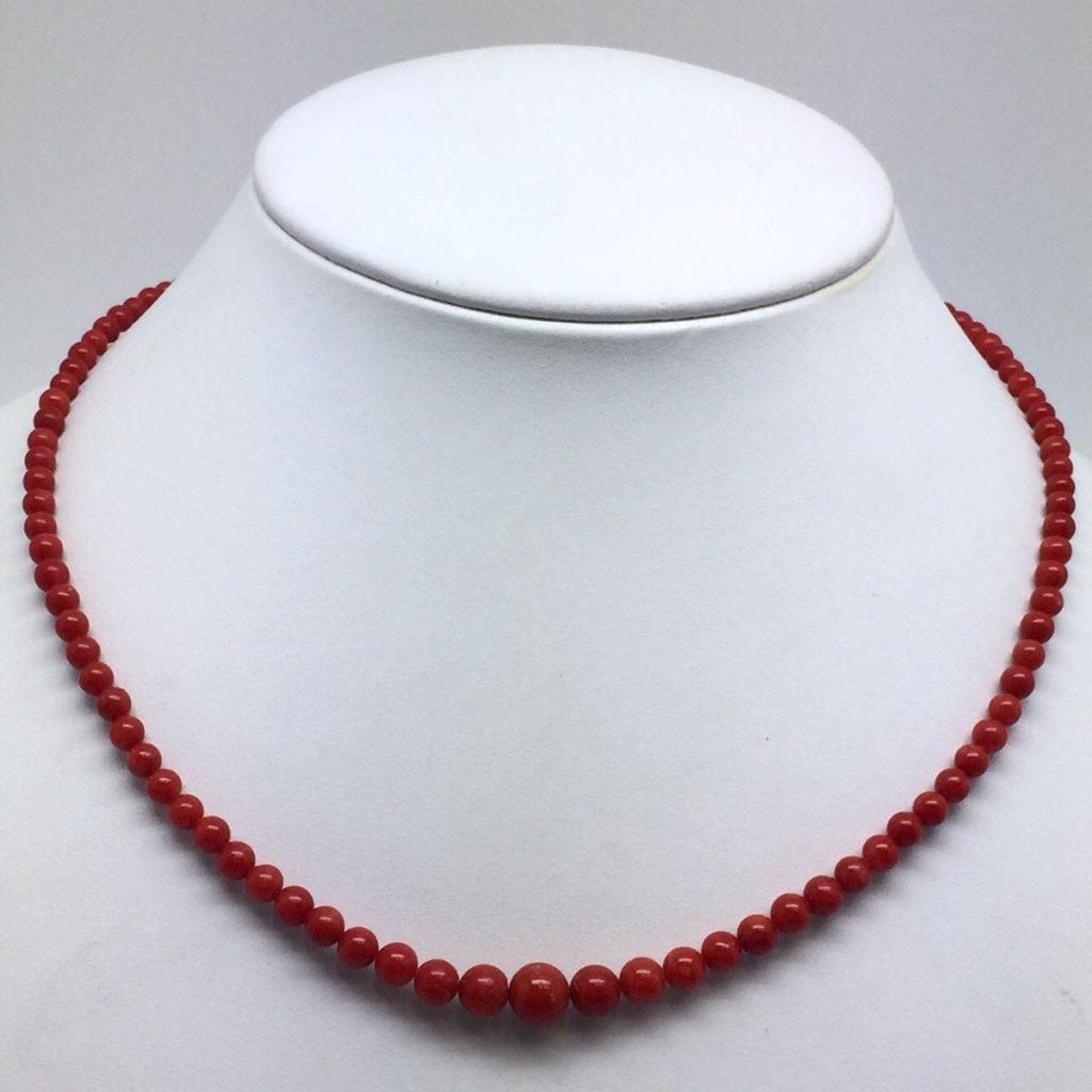 K14天然血赤本珊瑚ネックレス