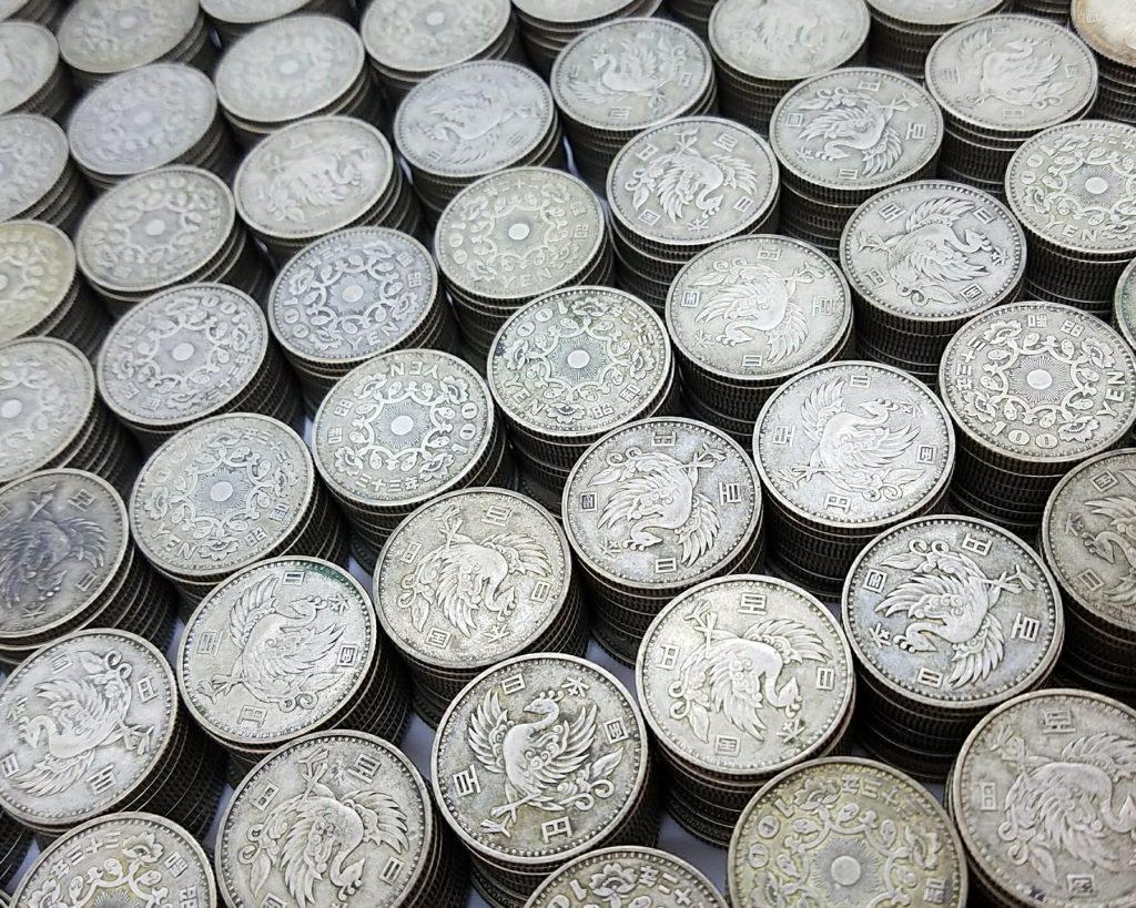 稲穂・鳳凰・東京オリンピック100銀貨