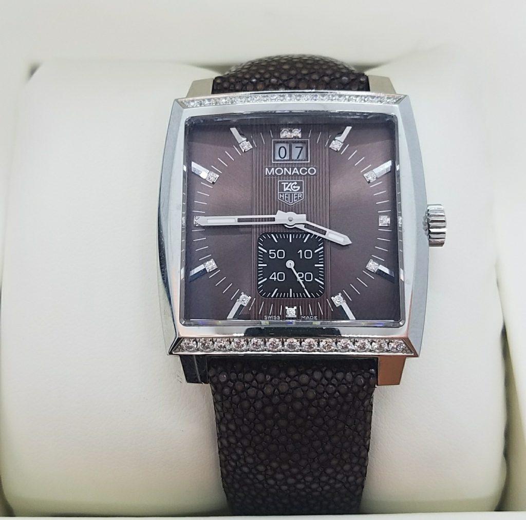 タグホイヤー モナコレディ グランドデイト ケースダイヤモンド 腕時計
