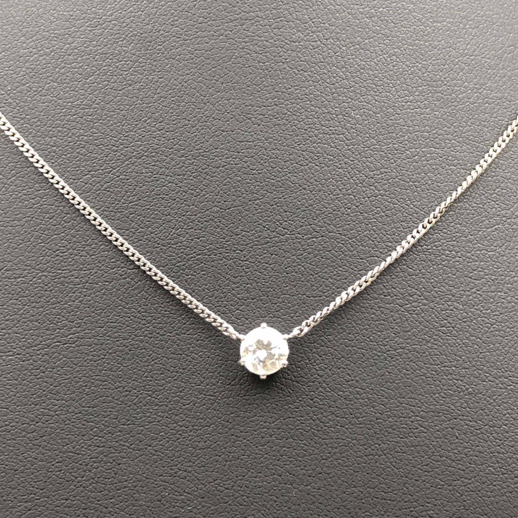 Pt900 ダイヤモンド ネックレス