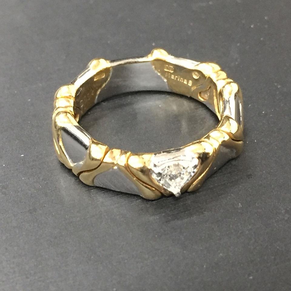 K18WG/K18ダイヤモンドリング