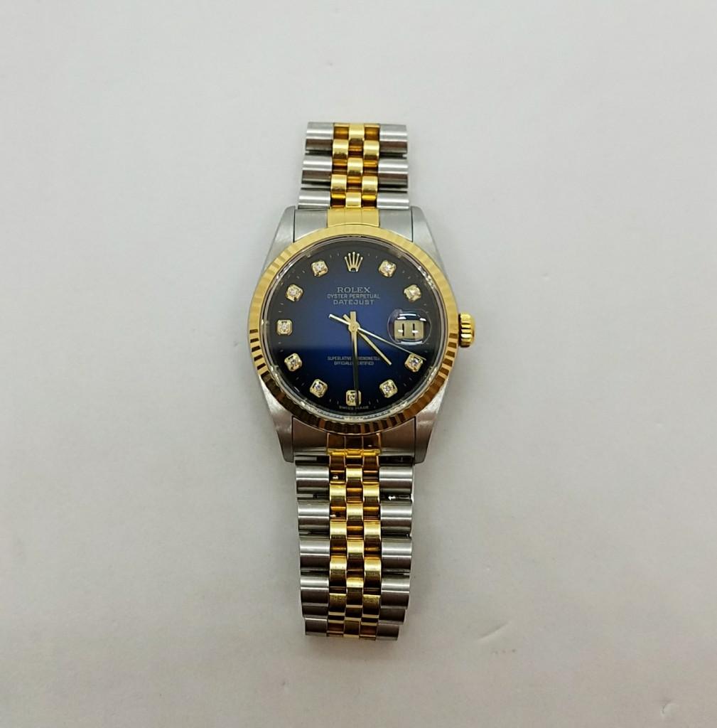 online retailer c9fbe e61fc ロレックス デイトジャスト 16233 K番 自動巻き メンズ腕時計 ...