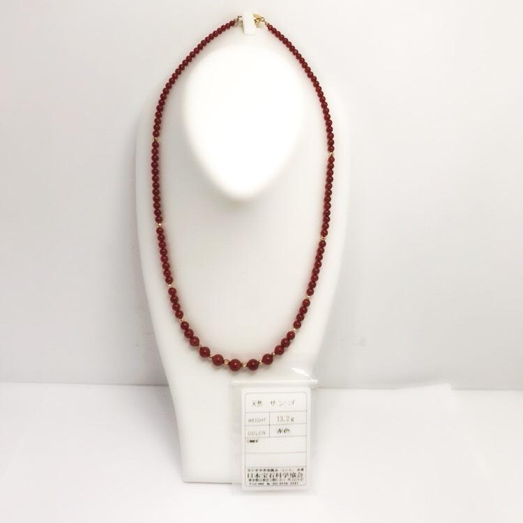 天然 本珊瑚ネックレス