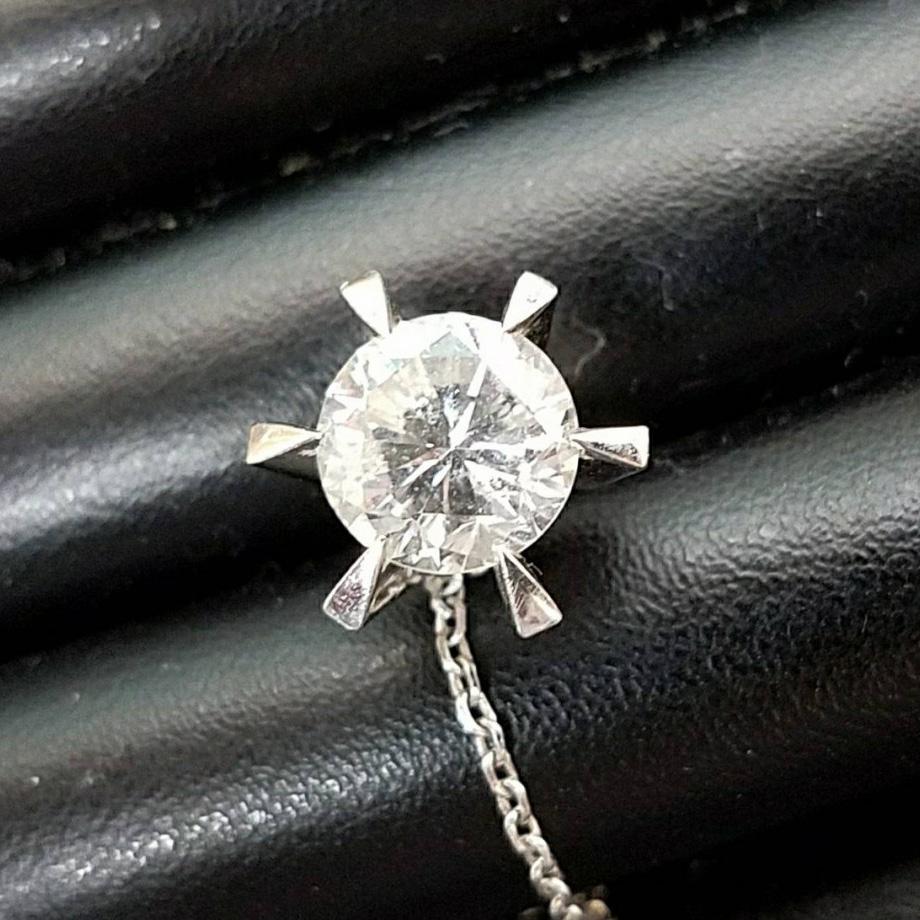 Pt900 ダイヤモンド 3.02ct付 ネクタイピン