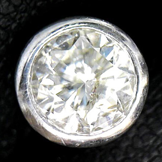Pt900 ダイヤモンド 1ct付き ネクタイピン