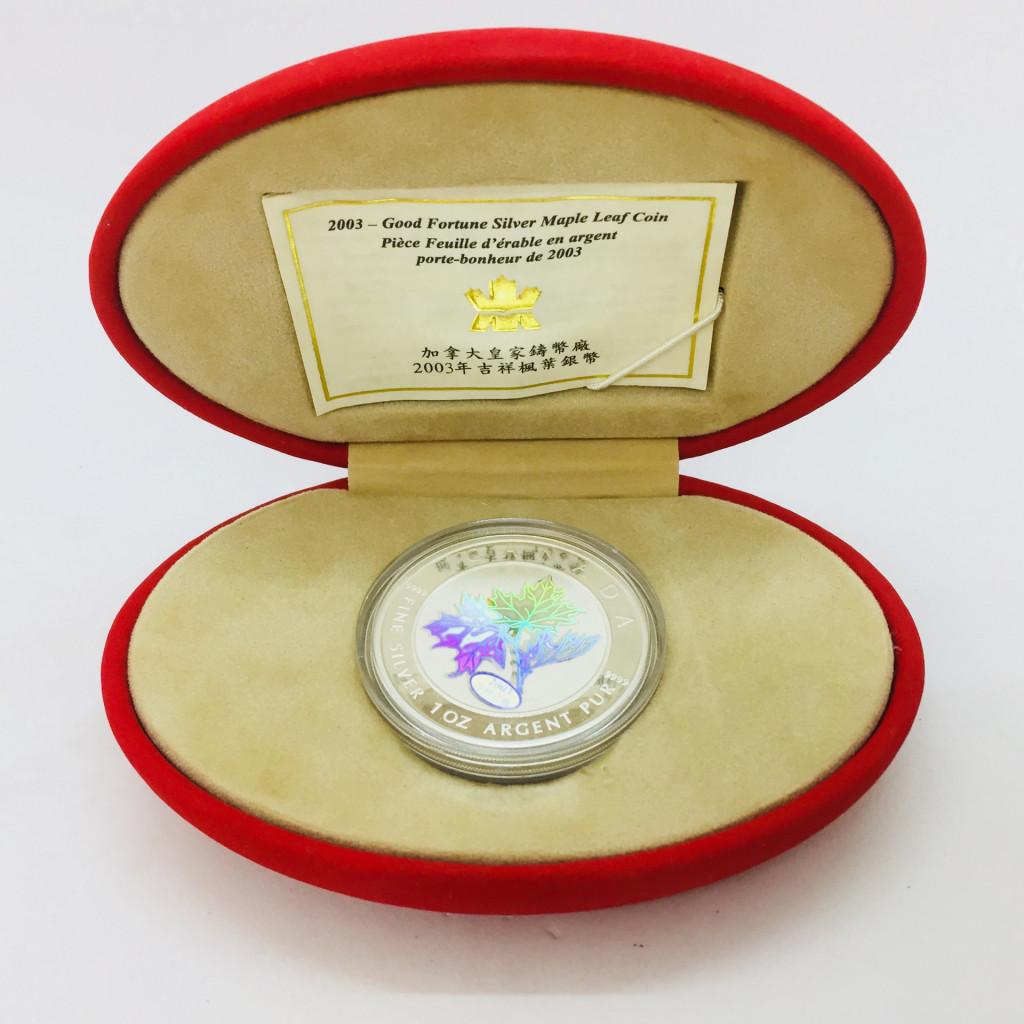 2003年 カナダ ロイヤルカナディアンミント 吉祥之楓 1オンス銀貨