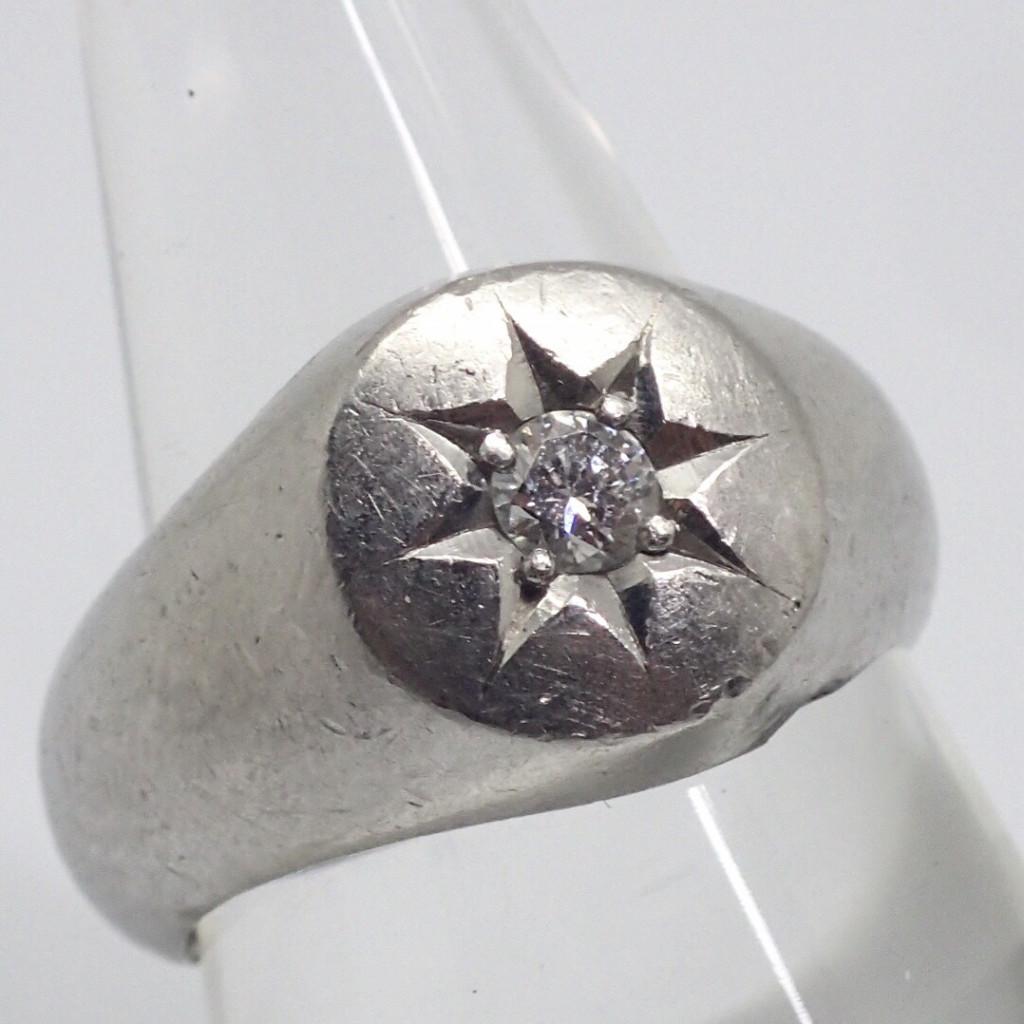 Pt850ダイヤモンドリング 0.19ct
