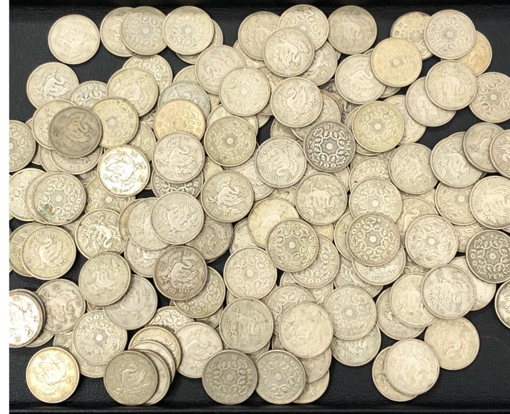 旧100円 鳳凰 銀貨