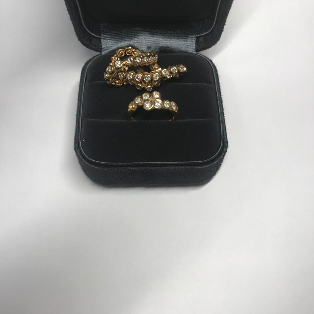k18 ブレス 指輪 ダイヤ