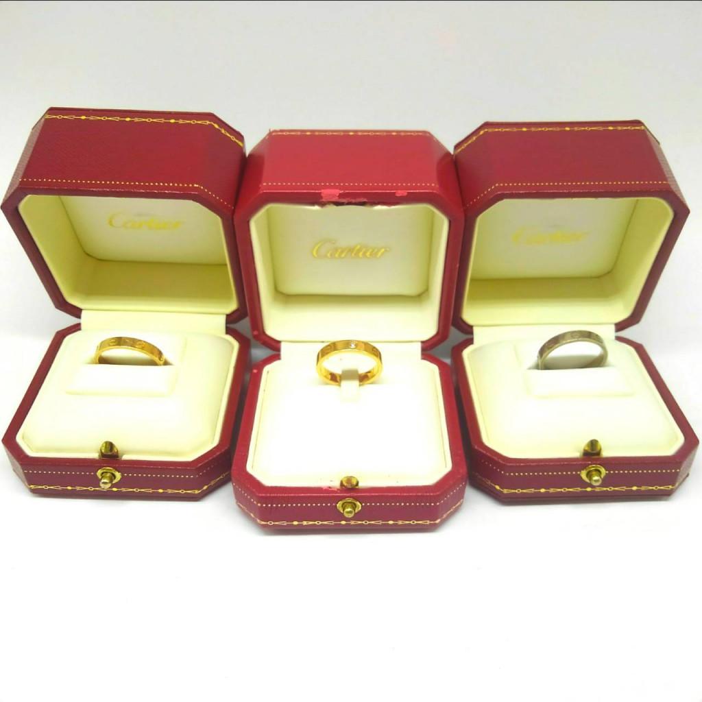 Cartier カルティエ イエローゴールド リング ダイヤ付き 他2個