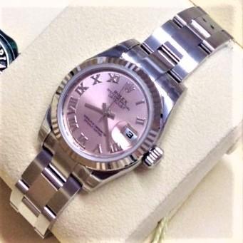 Rolex オイスター パーペチュアル ピンク ローマン オイスターブレスレット ランダム番 レディース 自動巻き 箱・保証書付き 美品