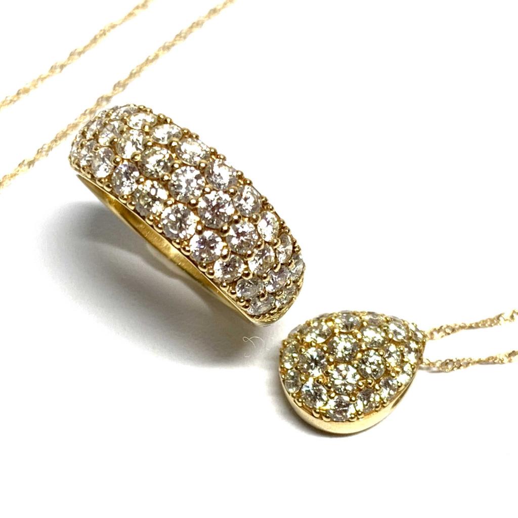 K18 メレダイヤ (1ct,0.5ct)リング・ネックレス