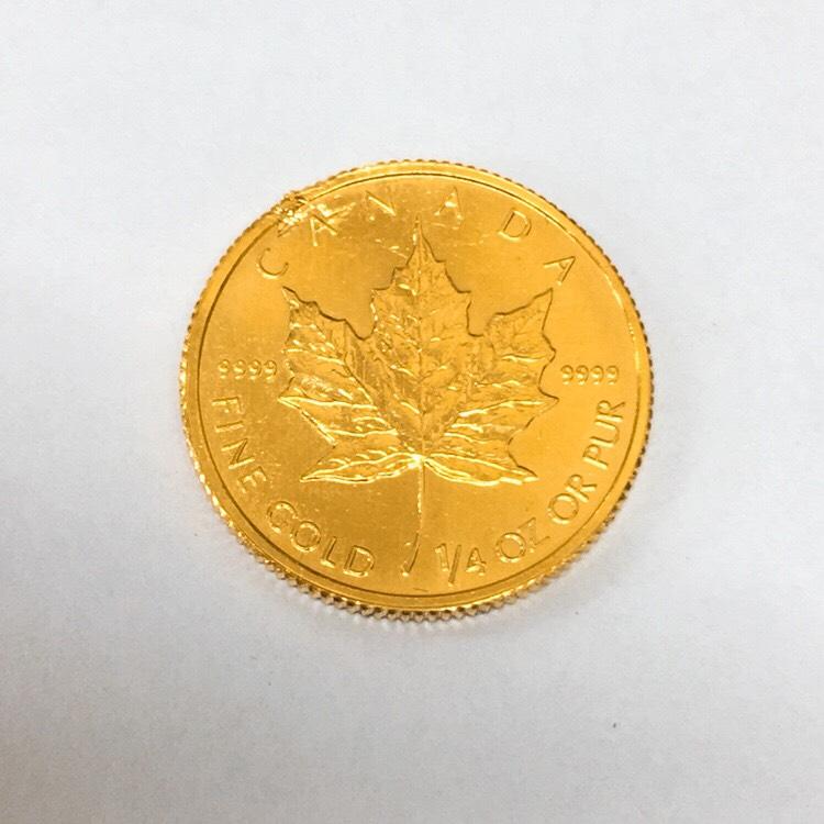 K24メイプルリーフ1/4ozコイン