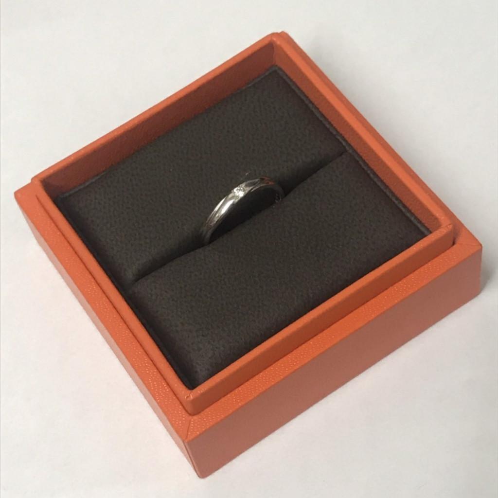 Pt900指輪0.03ctダイヤモンド