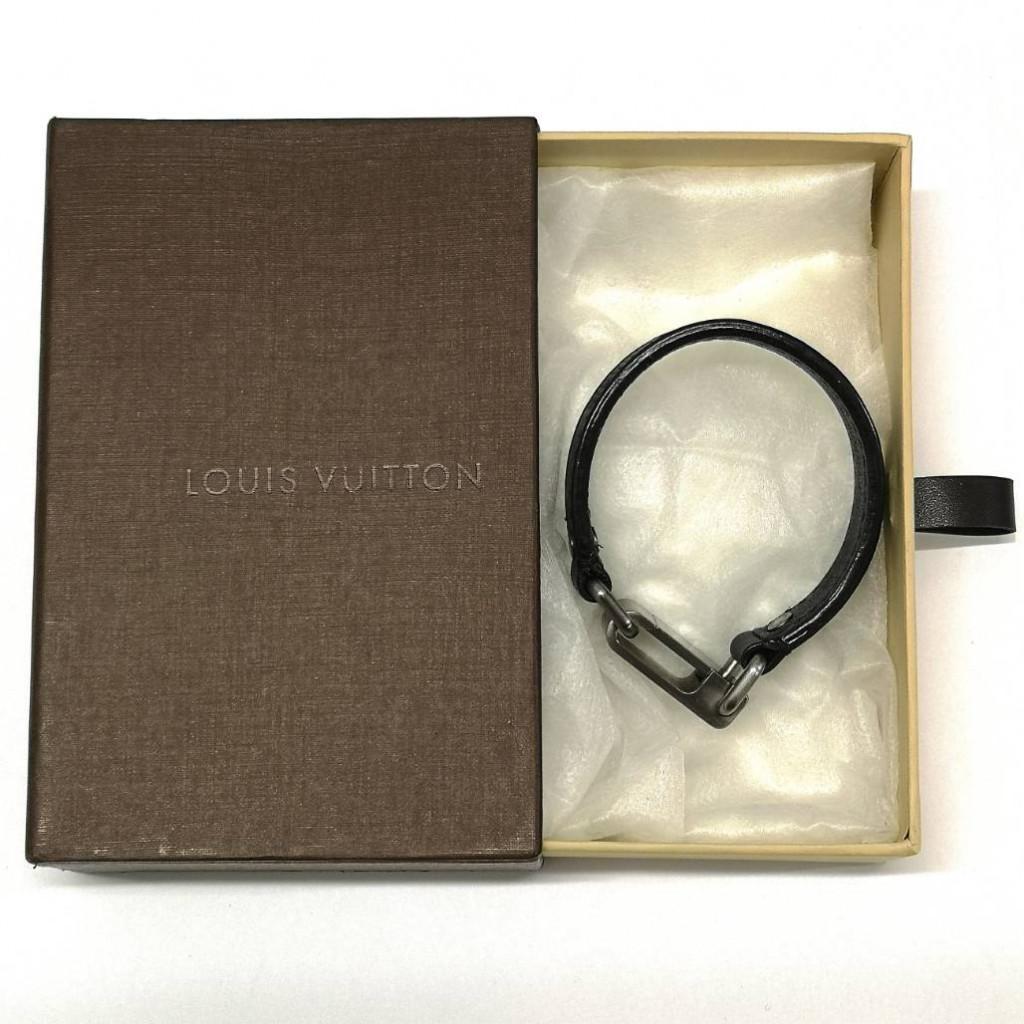 LOUIS VUITTON ダミエ ブレスレット レザー ユニセックス 箱付き 美品