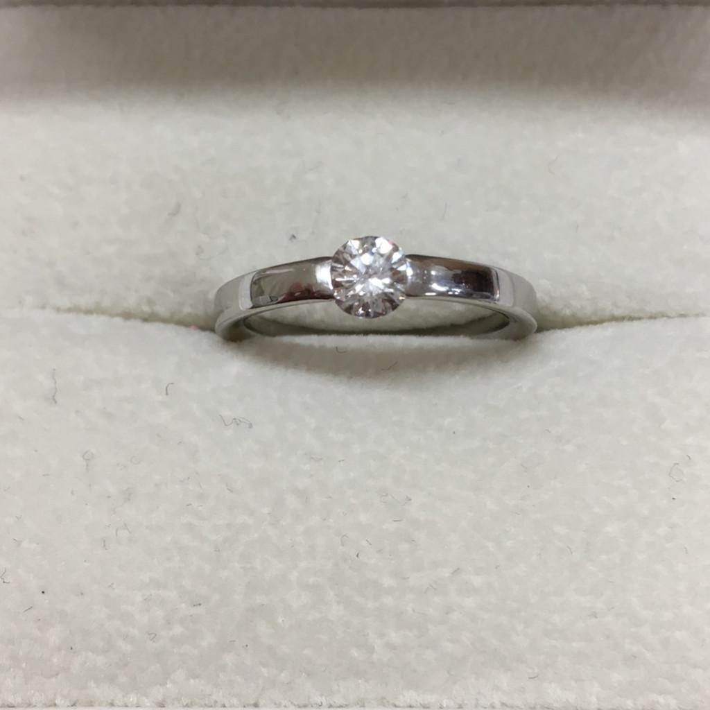 Pt900 ダイヤモンド 0.418ct リング