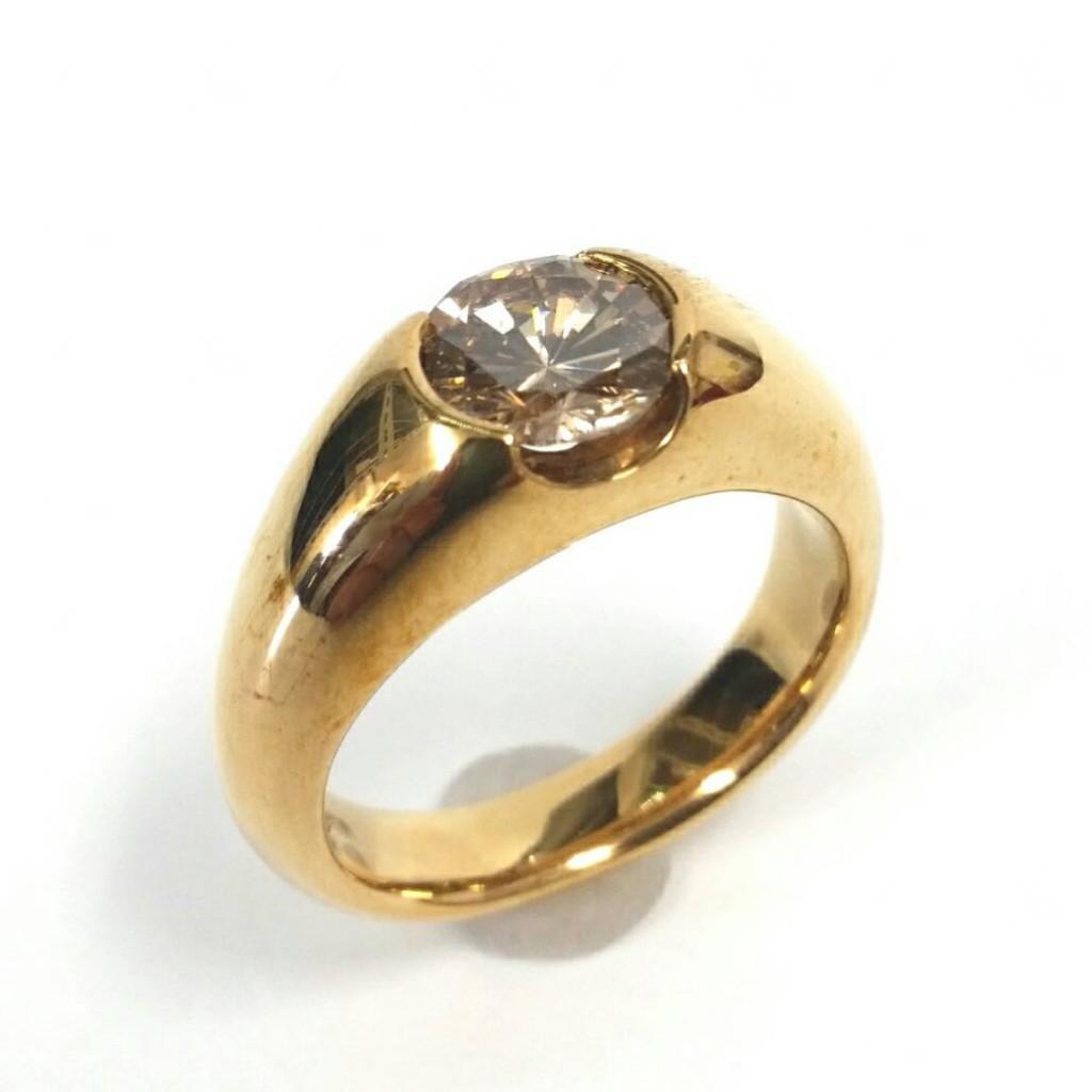 K18 ダイヤモンド付き リング