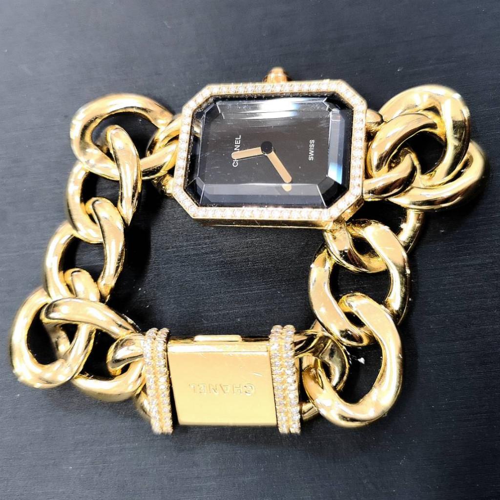 CHANEL シャネル プルミエールL K18 ダイヤモンドベゼル レディース 金 ゴールド ジュエリー ラグジュアリー 宝石 宝飾品 腕時計