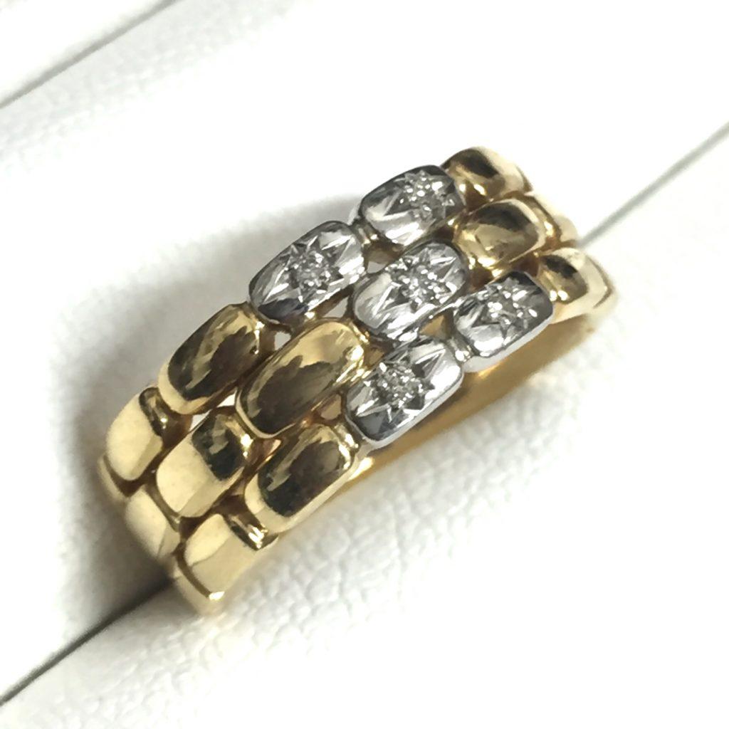 K18Pt900指輪メレダイヤ0.05ct