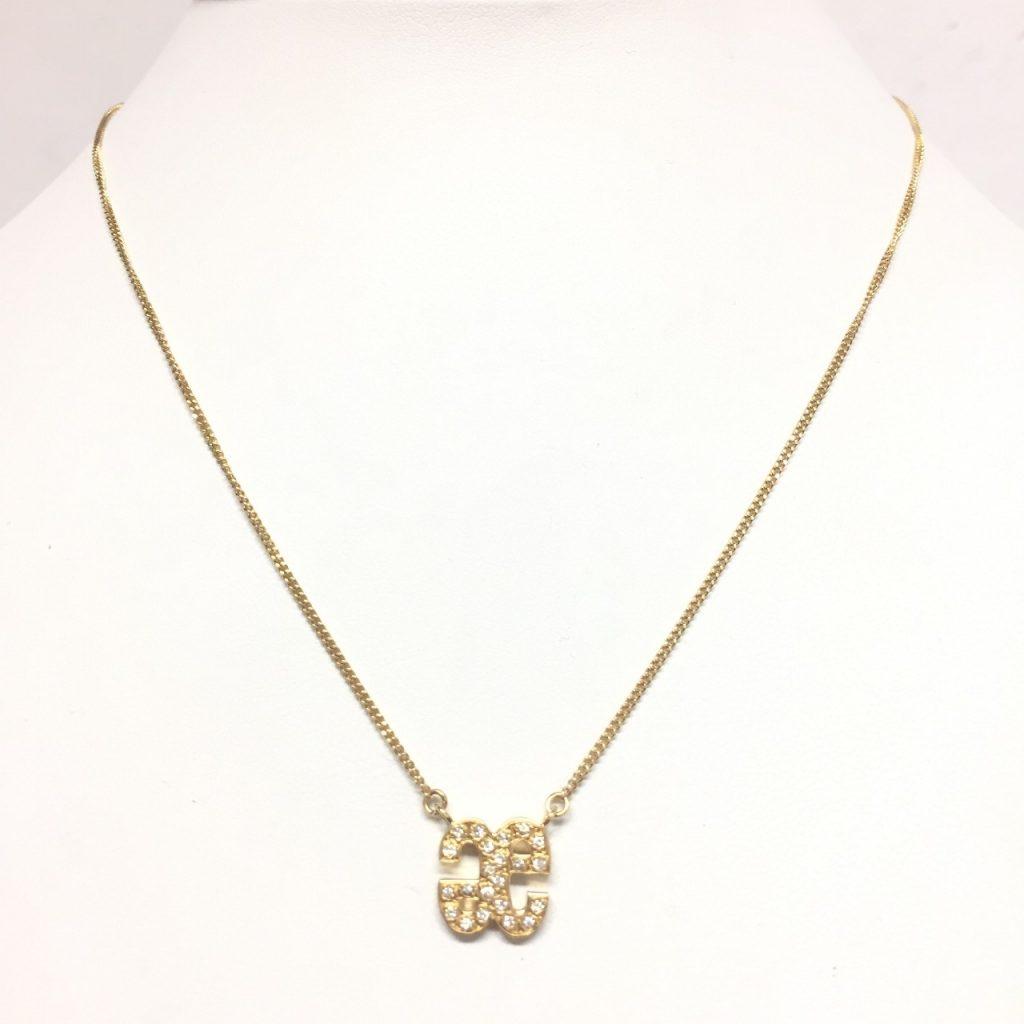 K18メレダイヤモンド0.14ctネックレス