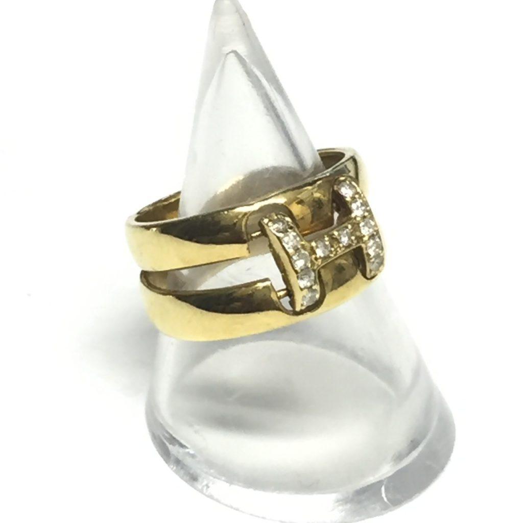 K18指輪0.16ctダイヤモンド付き