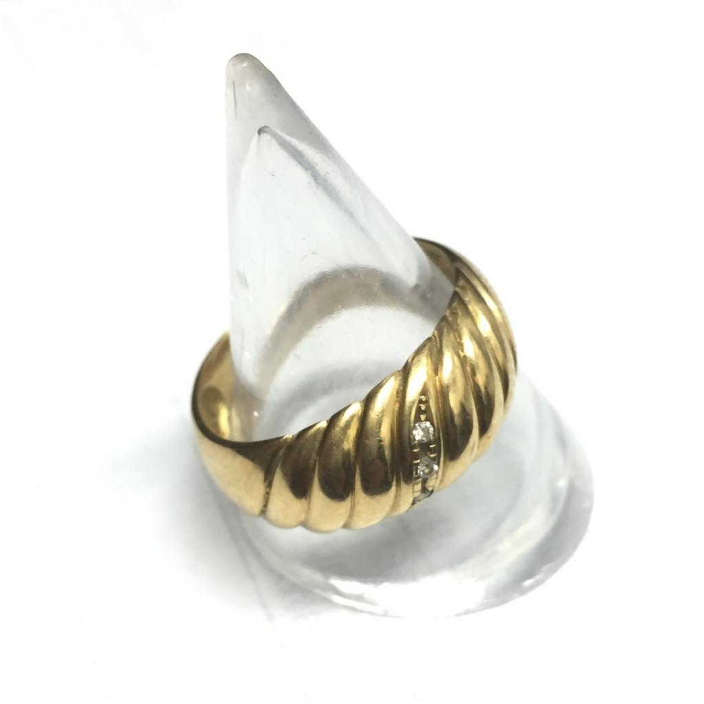 K18メレダイヤモンド付き指輪