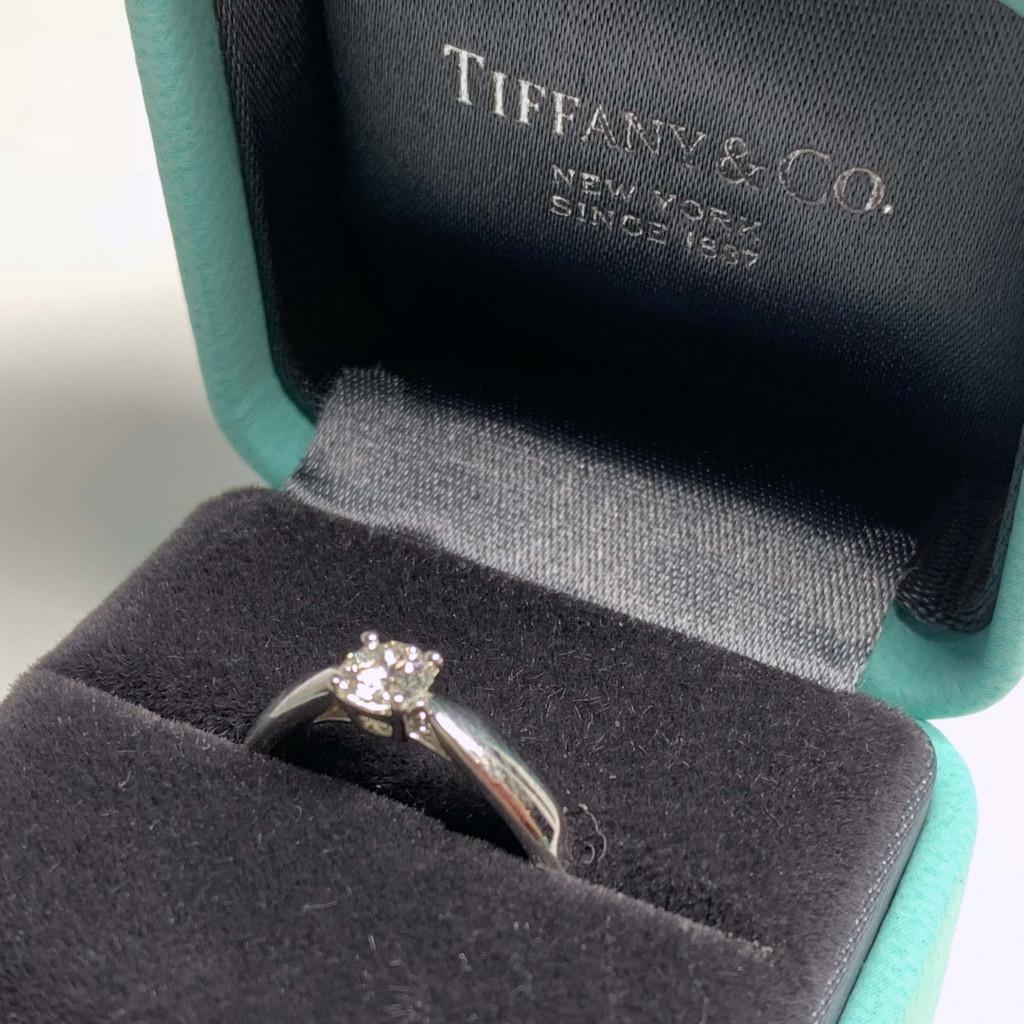 Tiffany & Co. Pt950 ダイヤモンド(0.29ct)H&C リング