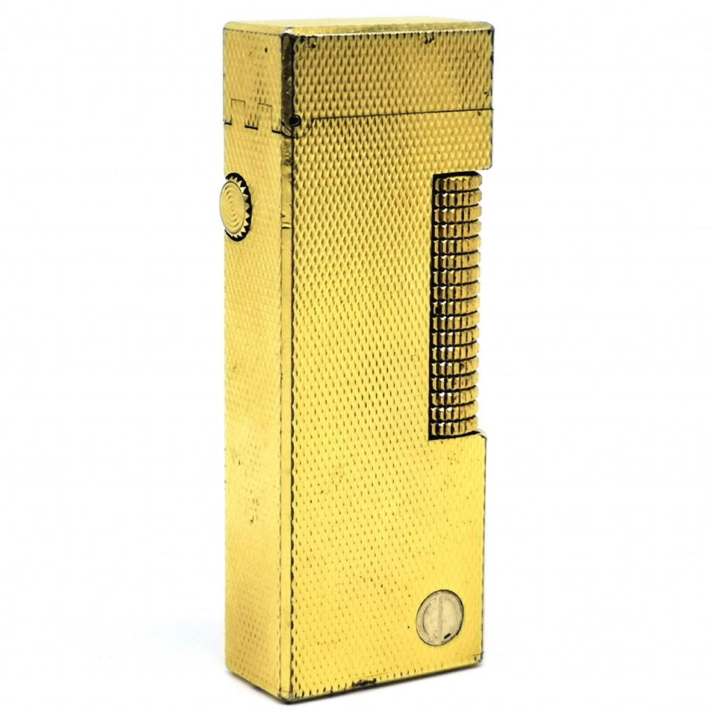 Dunhill Dマーク入り ローラーガスライター 着火確認済み ダンヒル ゴールド メンズ ファッション 喫煙グッズ