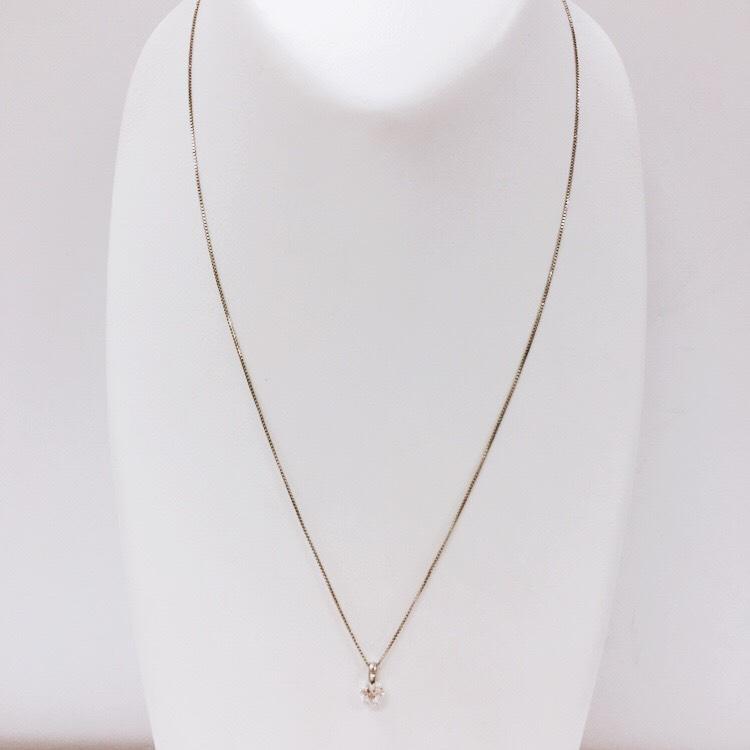 Pt900 ダイヤモンド(0.321ct)付ネックレス