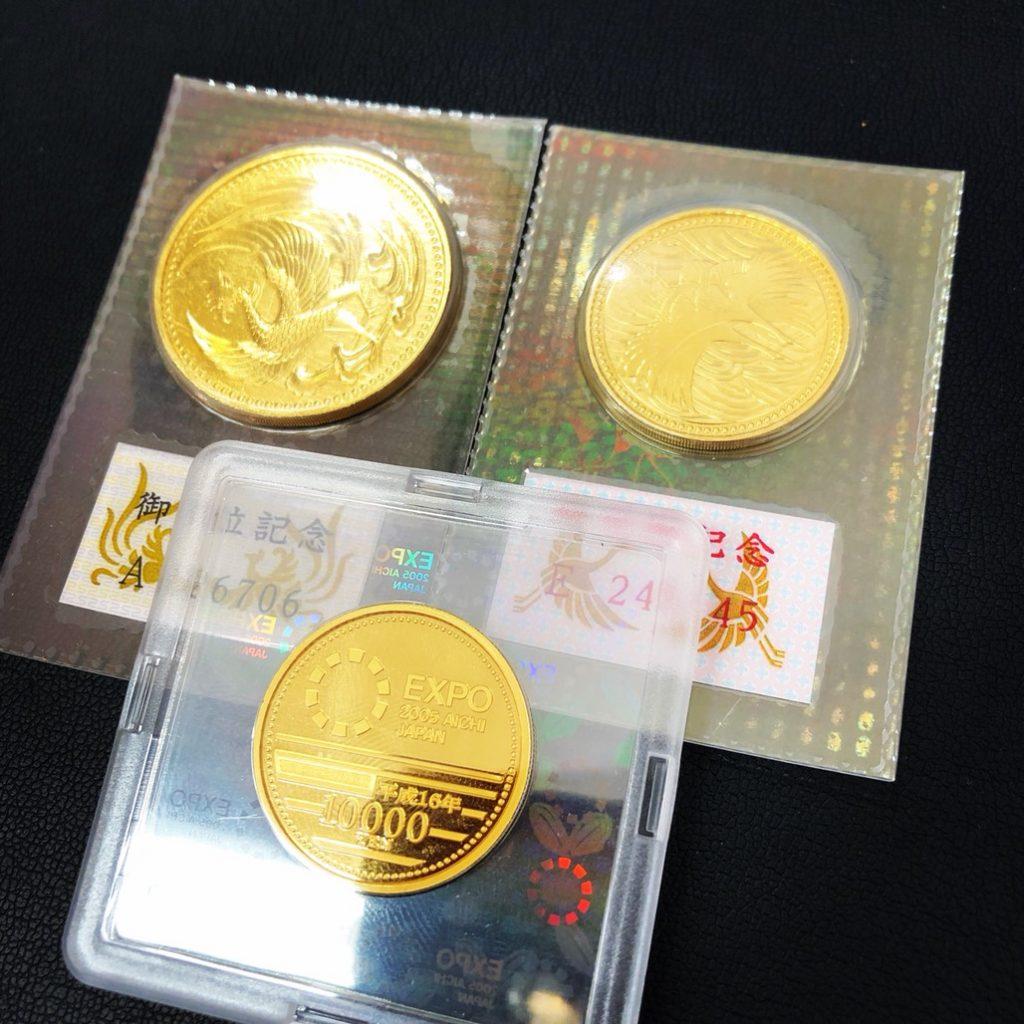 10万円金貨 平成2年 5万円金貨 平成5年 EXPO1万円金貨 記念金貨 メダル コイン 須坂市