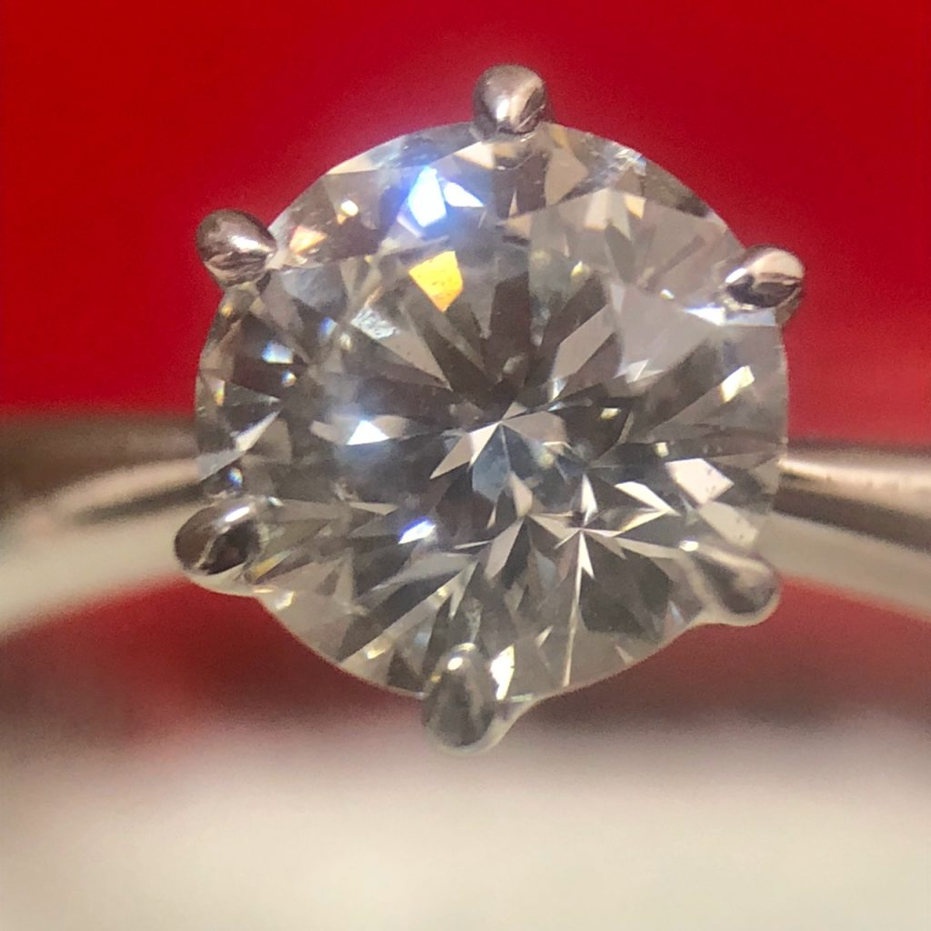 Pt900  1.0ct ダイヤモンドリング
