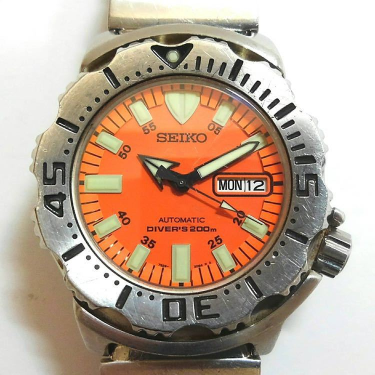 SEIKO 腕時計 オレンジモンスター
