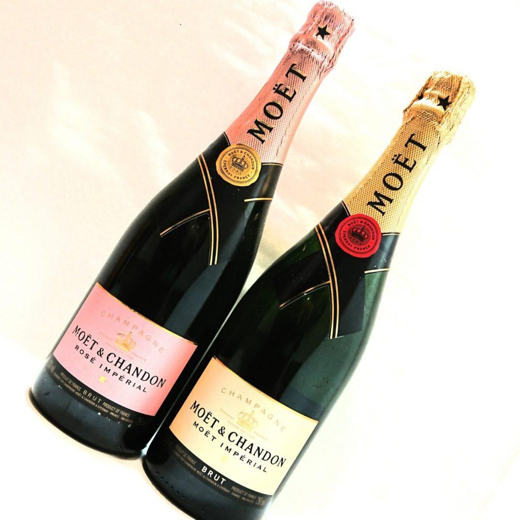 シャンパン モエ エ シャンドン ピンク 白 2本セット