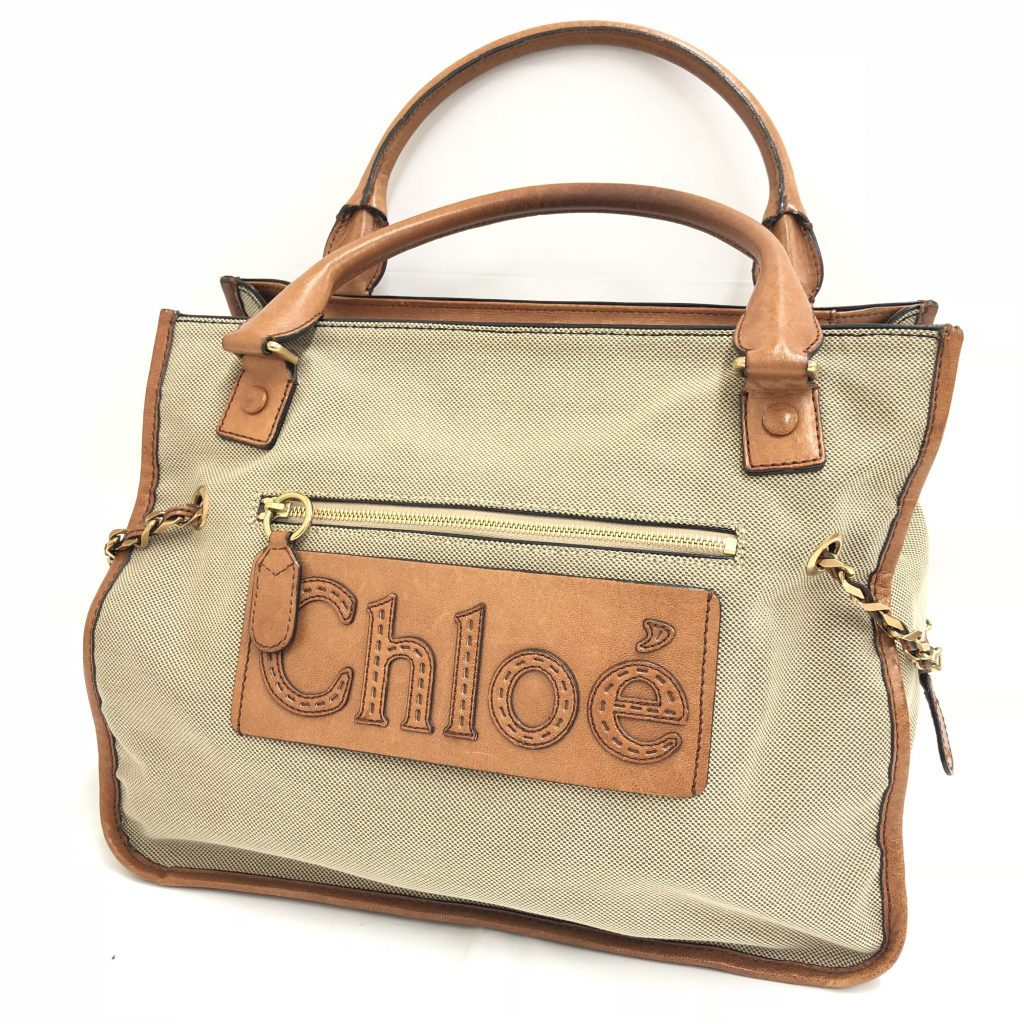 Chloe(クロエ) キャンバス・レザー ハンドバッグ レディース 保存袋付き