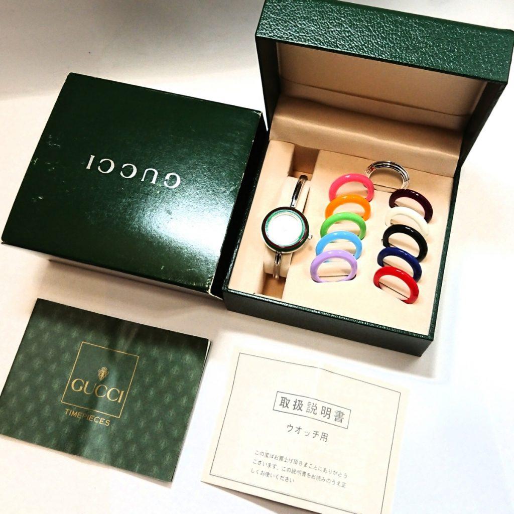 buy online e6023 bcfd0 GUCCI グッチ チェンジベゼルウォッチ   宝石買取のさすがや