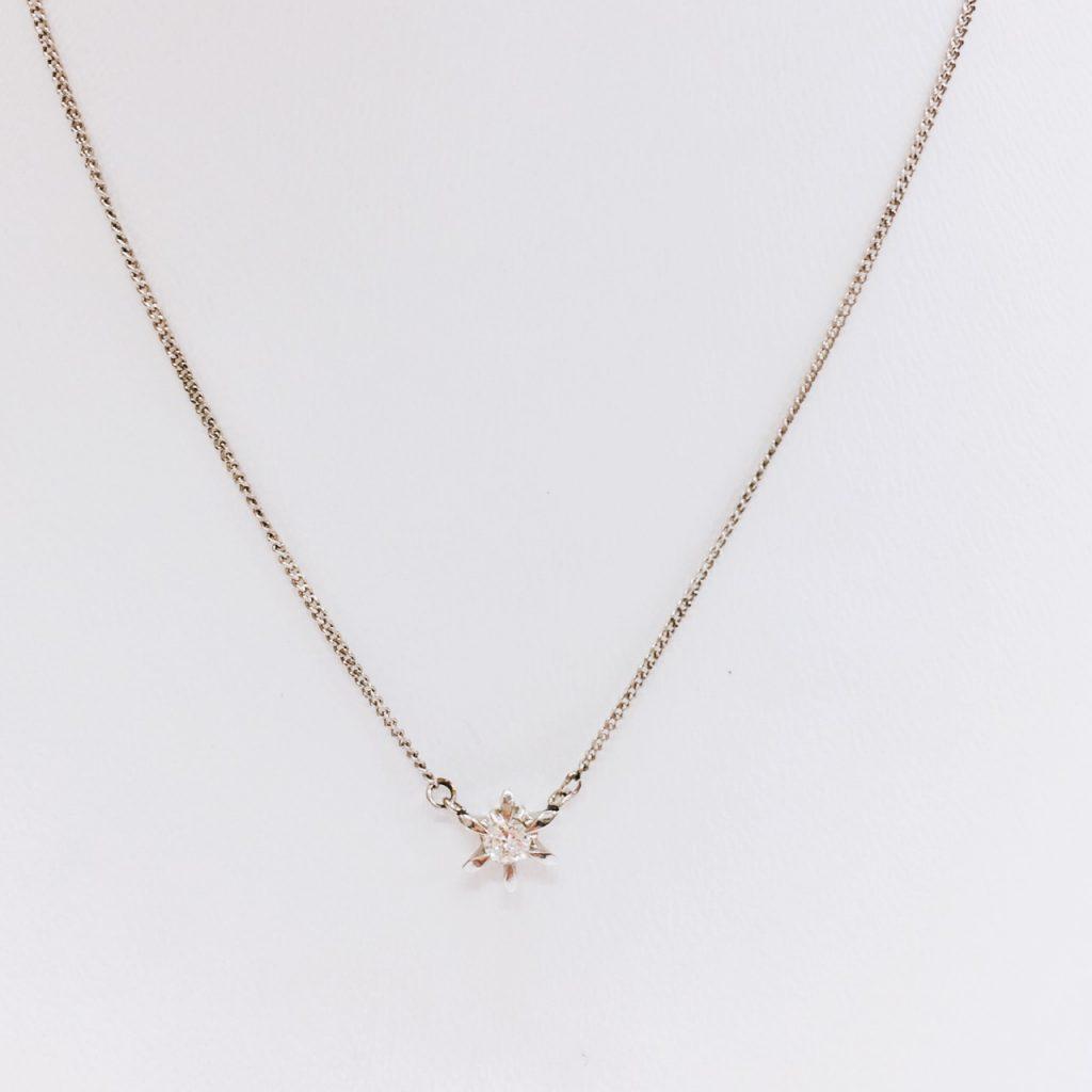 Pt850 ダイヤモンド0.15ct ネックレス