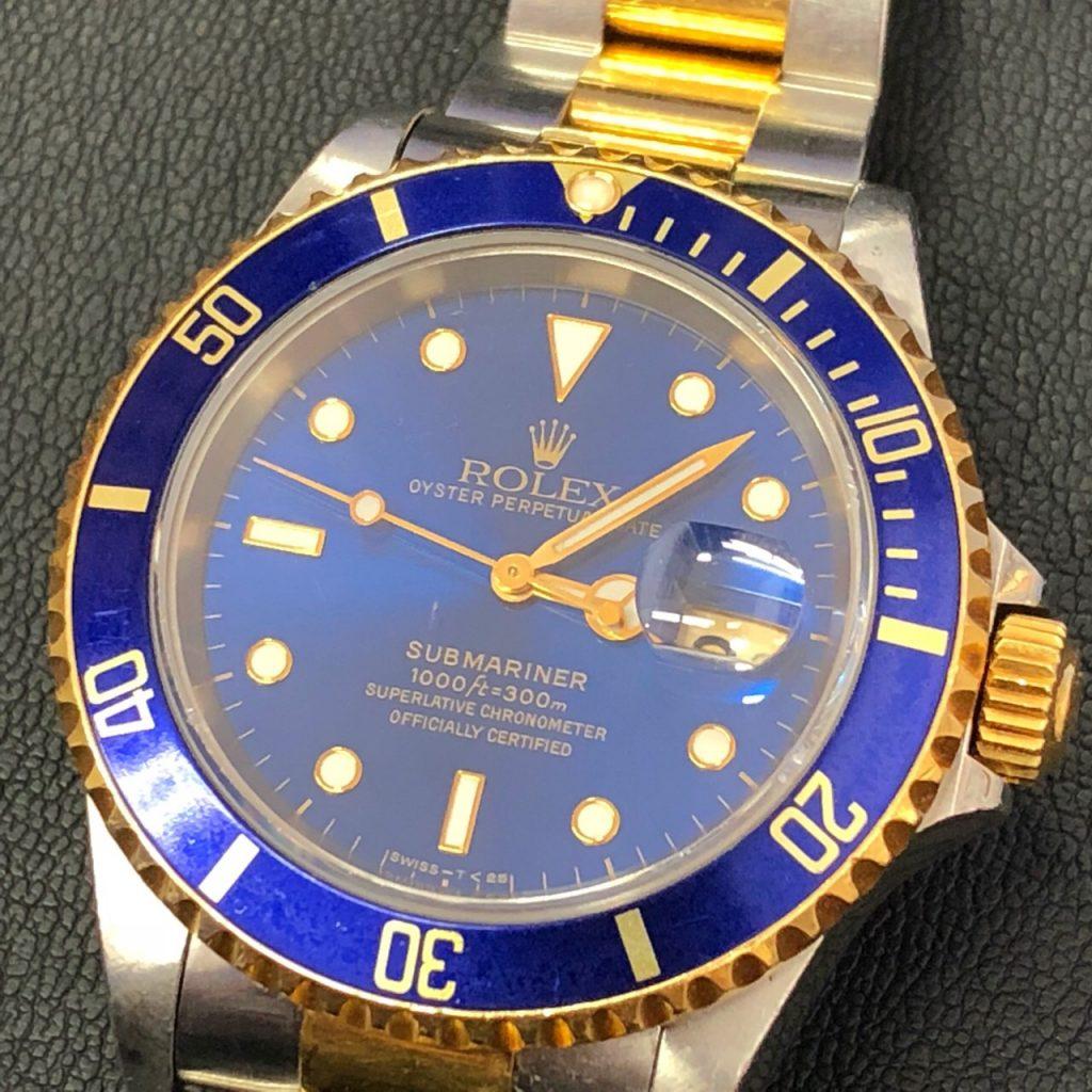 ROLEX ロレックス 青サブマリーナ コンビ  18K 機械式 腕時計
