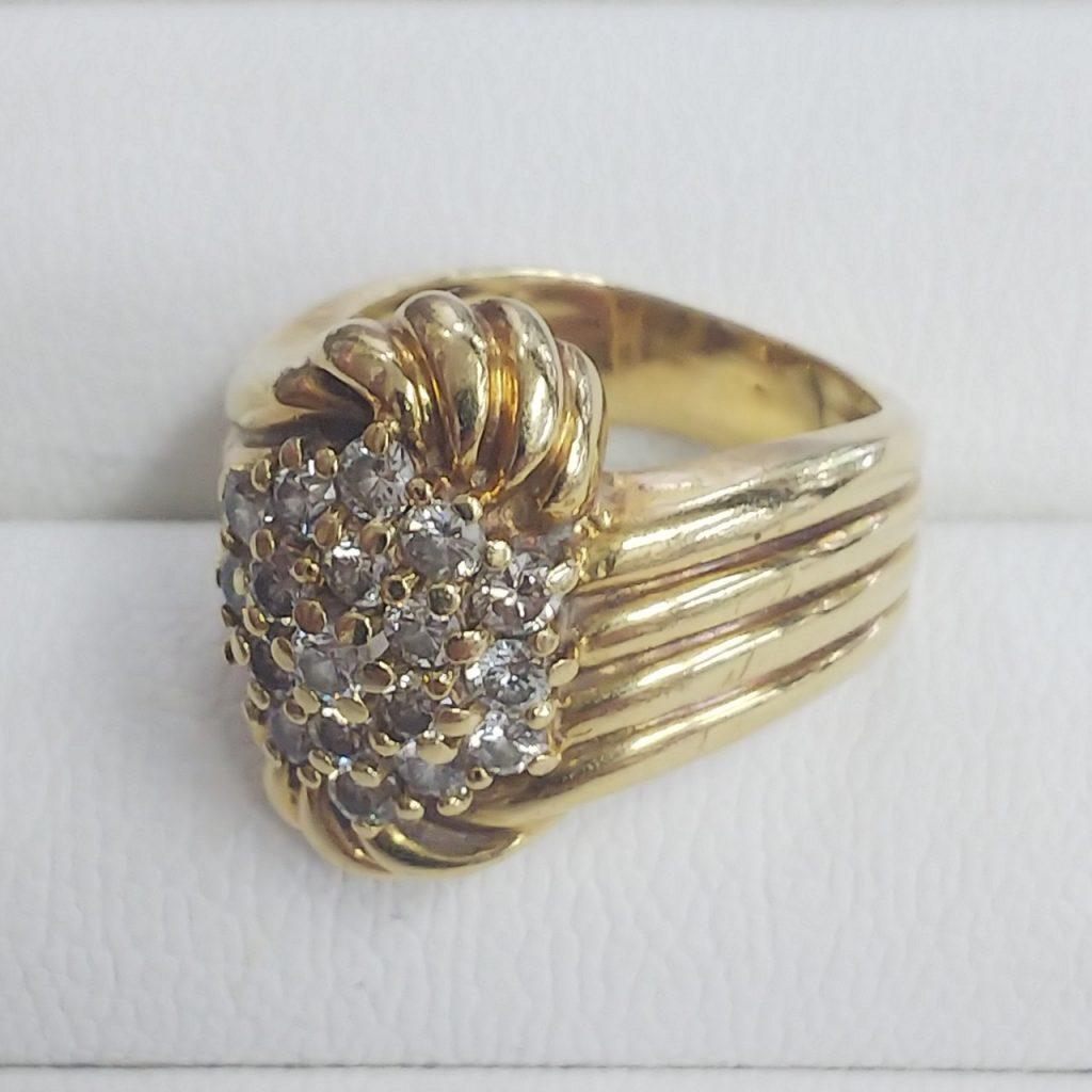 K18指輪メレダイヤモンド1.0ct