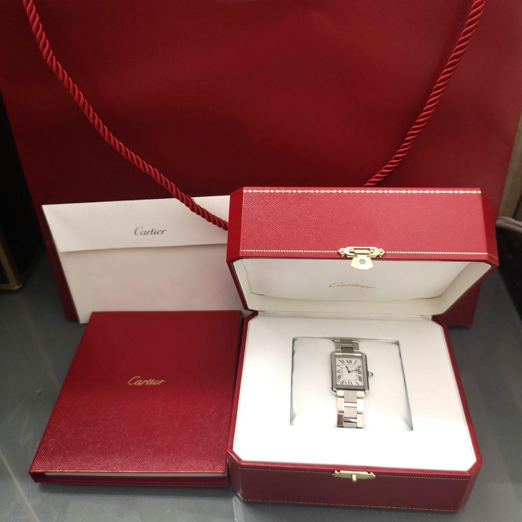 Cartier ソロ カルティエ ステンレスブレス 6310 時計 クウォーツ 箱・ギャラ付き 腕時計