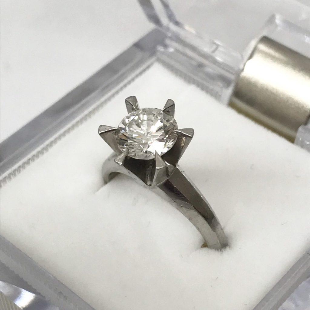 Pt900 1.2ct ダイヤモンドリング