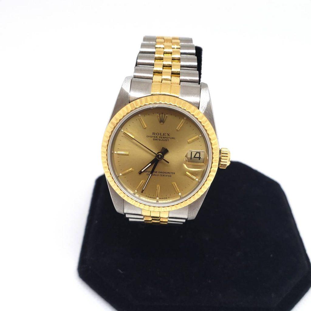 low priced 05fa0 13eca ROLEX ロレックス デイトジャスト ボーイズ腕時計 | 宝石買取の ...