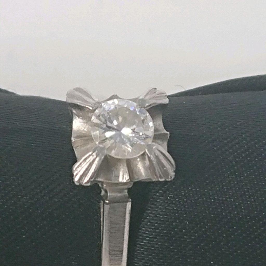 Pt850 0,33ctダイヤ付 リング