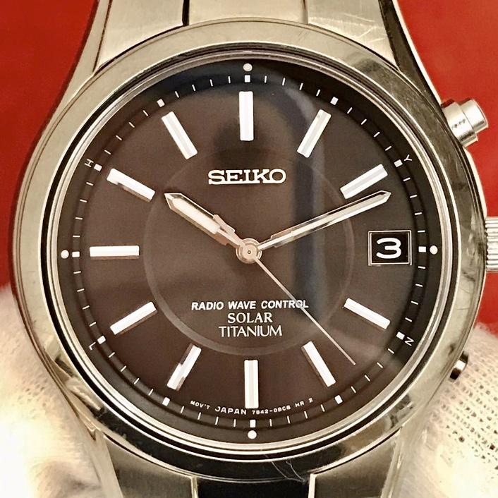 SEIKO メンズ ソーラー 7B42 0AN0 腕時計