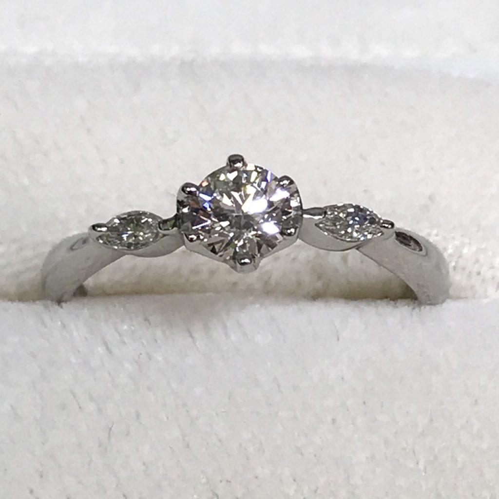Pt900 0.3ctダイヤモンド付リング